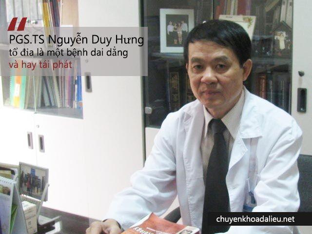 Bệnh tổ đỉa theo chia sẻ bác sĩ Nguyễn Duy Hưng