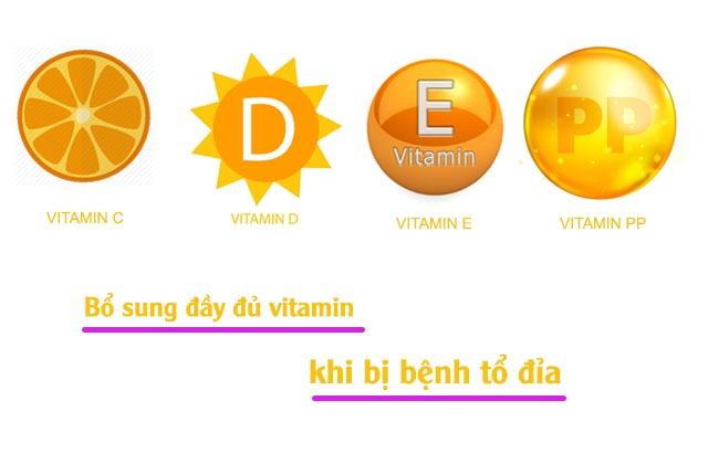 Bổ sung vitamin khi bị bệnh tổ đỉa