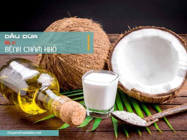 Dùng dầu dừa điều trị bệnh chàm khô