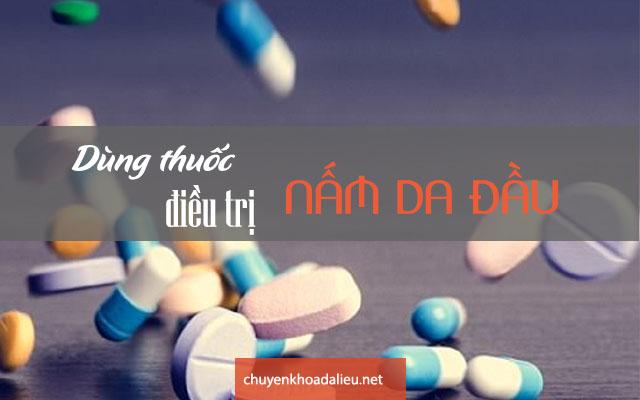 Dùng thuốc điều trị bệnh nấm da đầu