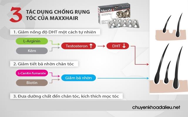 Công dụng được giới thiệu của Maxxhair