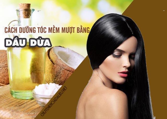 cách sử dụng dầu dừa dưỡng tóc