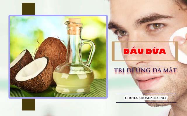 dầu dừa như cách điều trị dị ứng da mặt cực nhanh