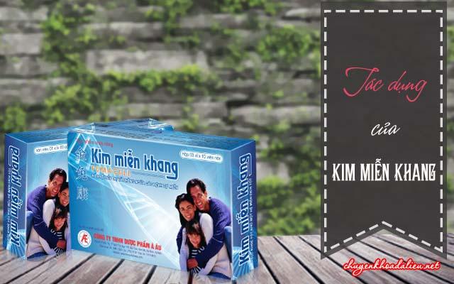 Một số tác dụng được giới thiệu của Kim Miễn Khang