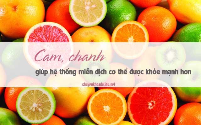 cam, chanh thực phẩm dứt điểm cơn ngứa và nổi mề đay