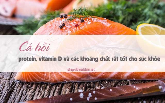 cá hồi là thực phẩm dứt điểm cơn ngứa, nổi mề đay