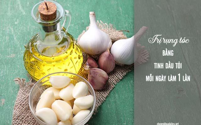 trị rụng tóc bằng dầu tỏi