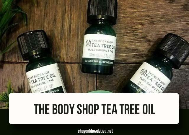cách trị mụn bọc mụn mủ bằng tea tree oil