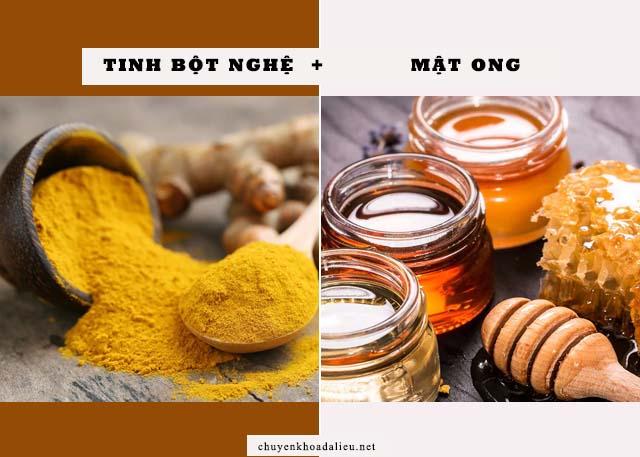 cách trị nám da bằng tinh bột nghệ và mật ong