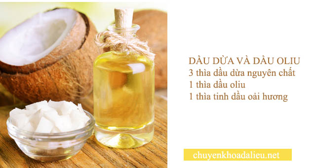 trị nám tàn nhang bằng dầu dừa và dầu oliu