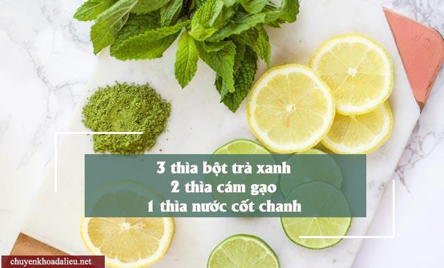 cách trị nám da bằng mặt nạ bột trà xanh và nước cốt chanh