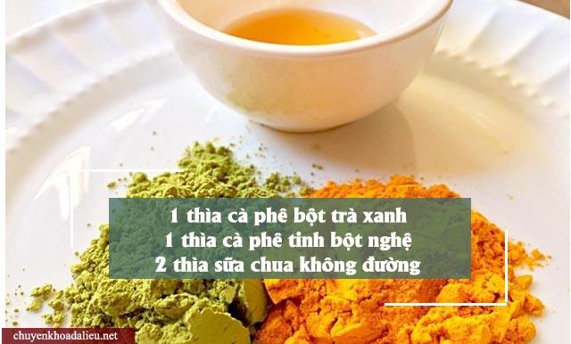 cách trị nám da bằng mặt nạ bột trà xanh và tinh bột nghệ cực kỳ hiệu quả