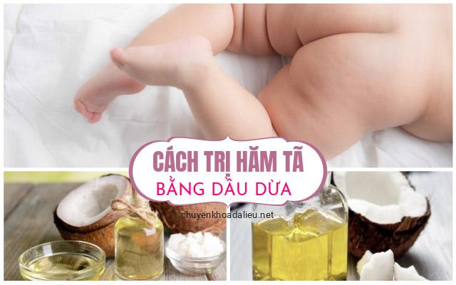 cách trị hăm tã bằng dầu dừa 2