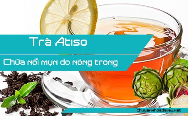 Chữa mụn do nóng trong bằng trà Atiso