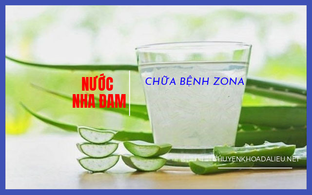 uống nước nha đam chữa zona