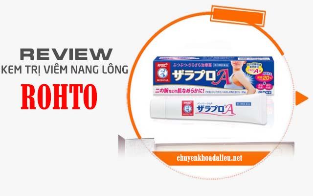 Kem trị viêm nang lông Rohto