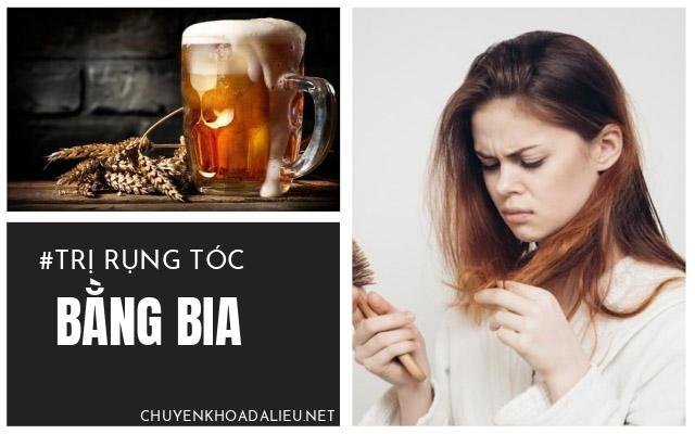 trị rụng tóc bằng bia