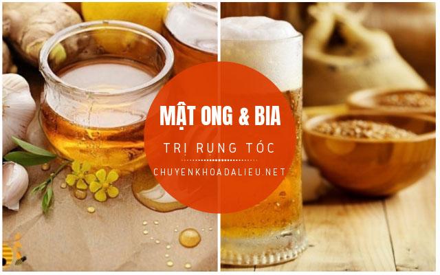 trị rụng tóc bằng bia và mật ong