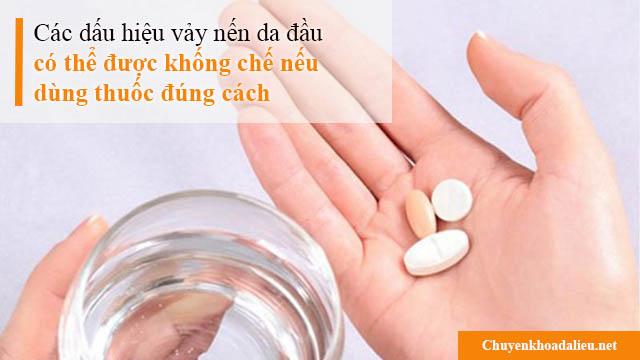 Dùng thuốc đúng cách sẽ giúp kiểm soát tốt các dấu hiệu bệnh vẩy nến da đầu