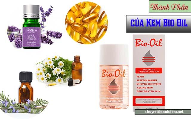 Thành phần chính của kem trị rạn da Bio Oil