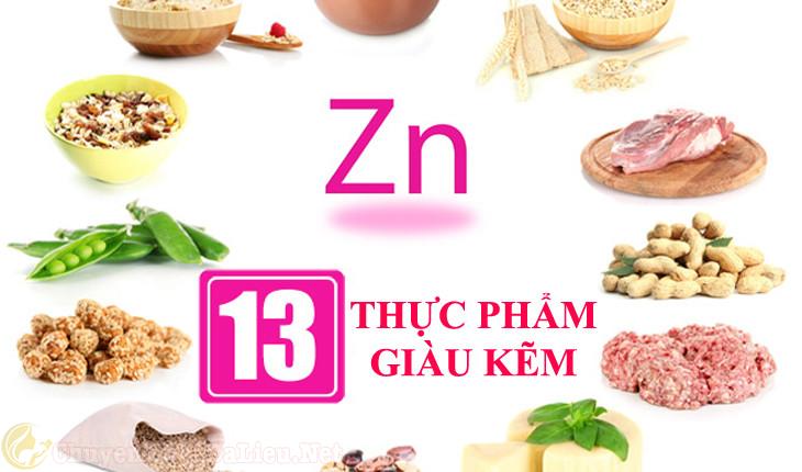thực phẩm nhiều kẽm điều trị bệnh eczema