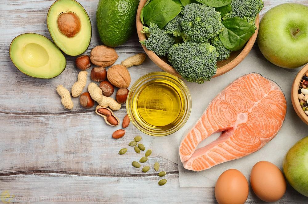 thực phẩm nhiều omega 3 tốt cho người bị á sừng