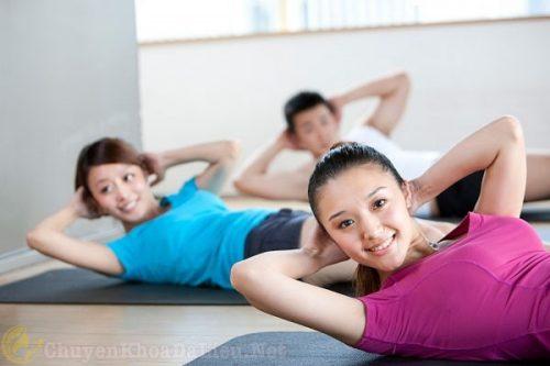Luyện tập thể dục,thể thao mỗi ngày ngăn ngừa rụng tóc