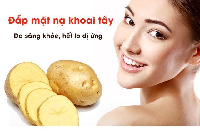 cách chữa dị ứng thời tiết bằng khoai tây