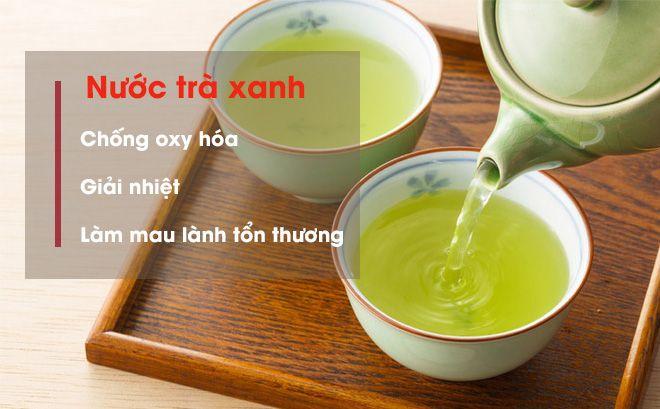 Cách chữa dị ứng thời tiết bàng trà xanh