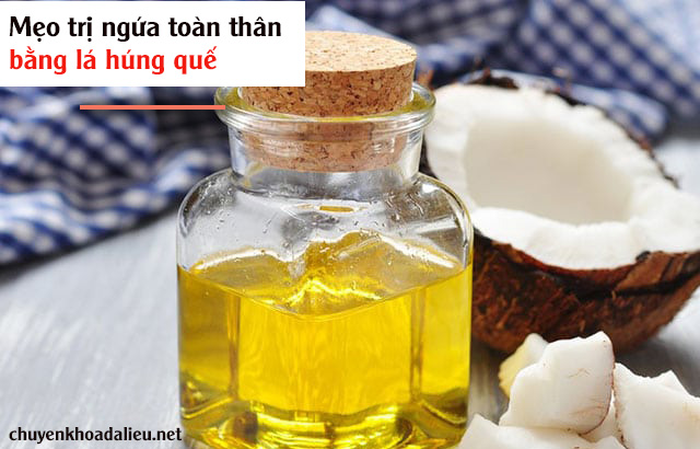 Cách chữa bệnh ngứa toàn thân bằng dầu dừa