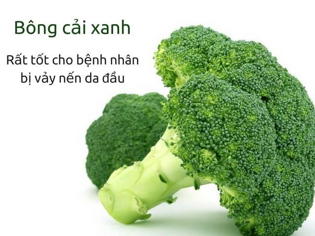 Người bị vẩy nến da đầu nên ăn bông cải xanh
