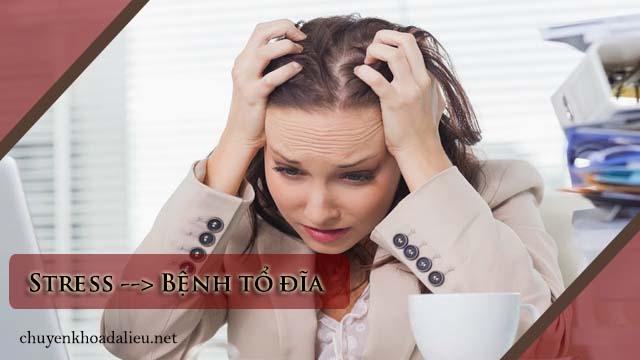 căng thẳng là nguyên nhân gây bệnh tổ đĩa