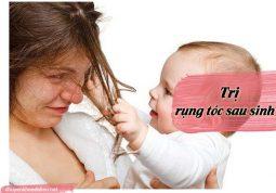 chữa trị rụng tóc sau sinh