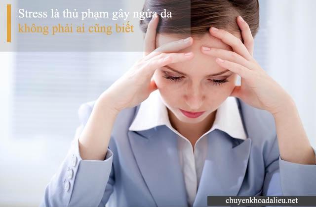 Stress là một trong những nguyên nhân gây bệnh ngứa da