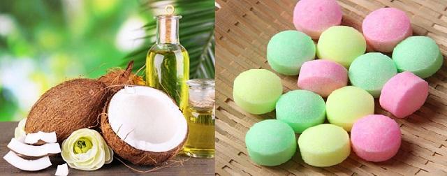Dùng dầu dừa và long não trị bệnh ngứa ngoài da