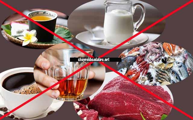 Những thức ăn mà bệnh viêm da co địa nên tránh