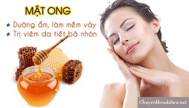 Mật ong giúp điều trị viêm da tiết bã nhờn ở mặt cực hay