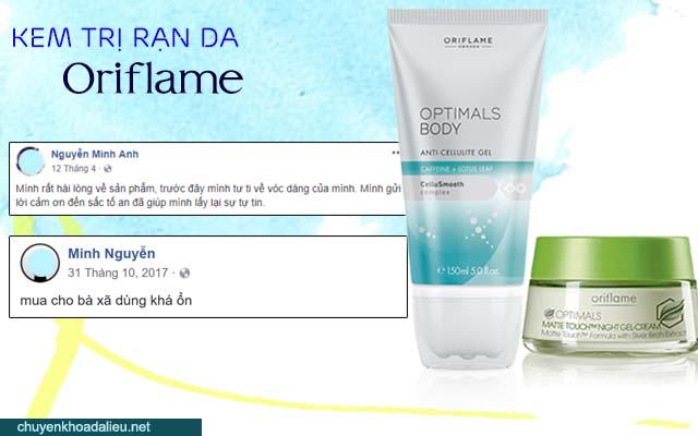 Đánh giá cảu người tiêu dùng về kem trị rạn da Oriflame