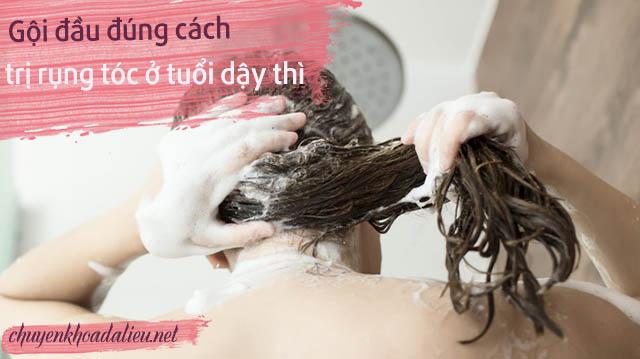 Gội đầu đúng cách giúp khắc phục rụng tóc ở tuổi 17