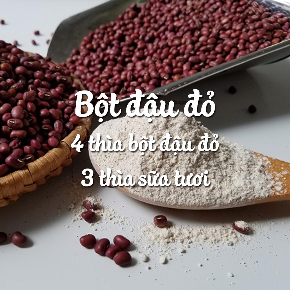 Cách điều trị viêm nang lông tại nhà với bột đậu đỏ