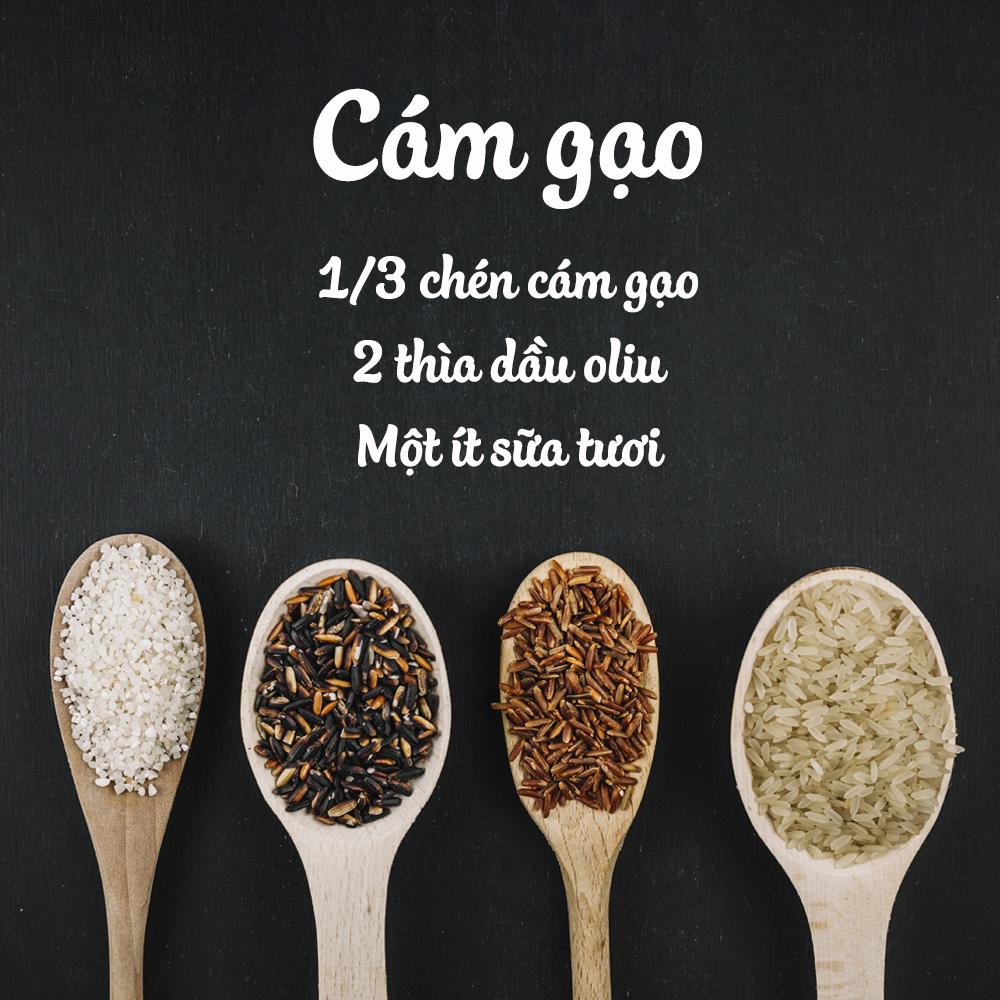 Điều trị viêm nang lông tại nhà bằng bột cám gạo