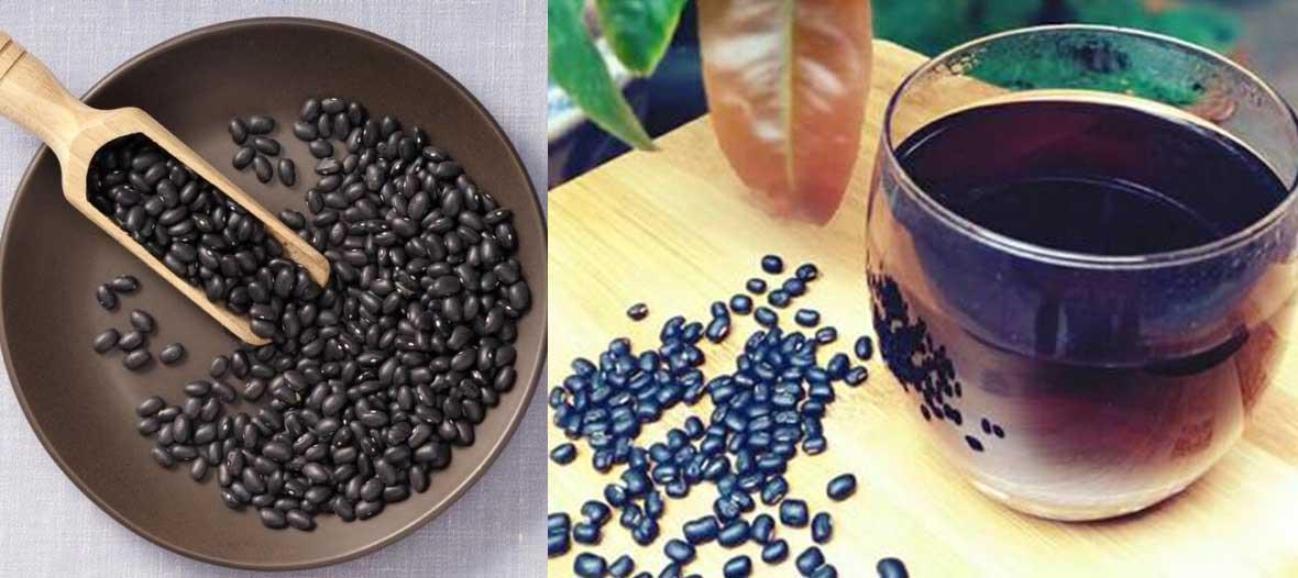 nước đậu đen chữa viêm da dầu