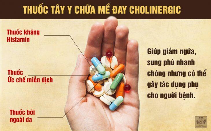 Ưu-nhược điểm của thuốc tây chữa mề đay cholinergic