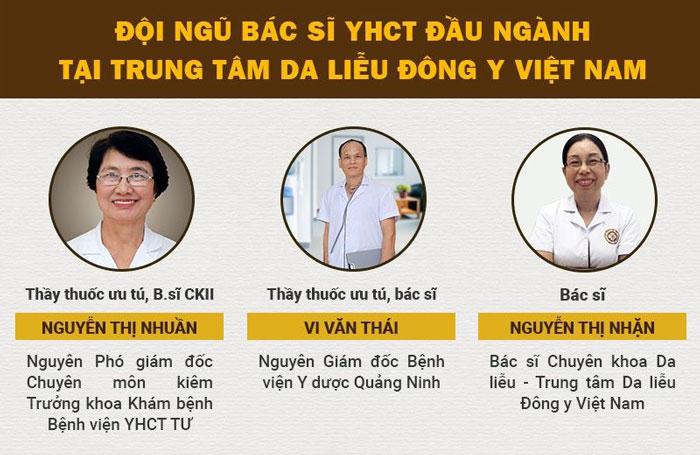 Đội ngũ bác sĩ tại Trung tâm Da liễu Đông y Việt Nam