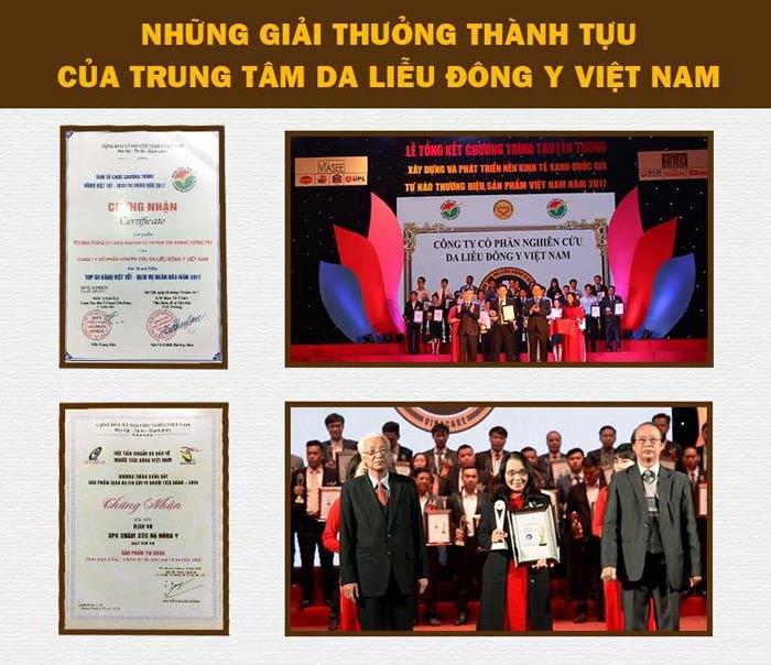 Trung tâm Da liễu Đông y Việt Nam và những giải thưởng