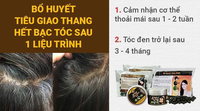 Bổ huyết Tiêu giao thang hết bạc tóc sau 1 liệu trình