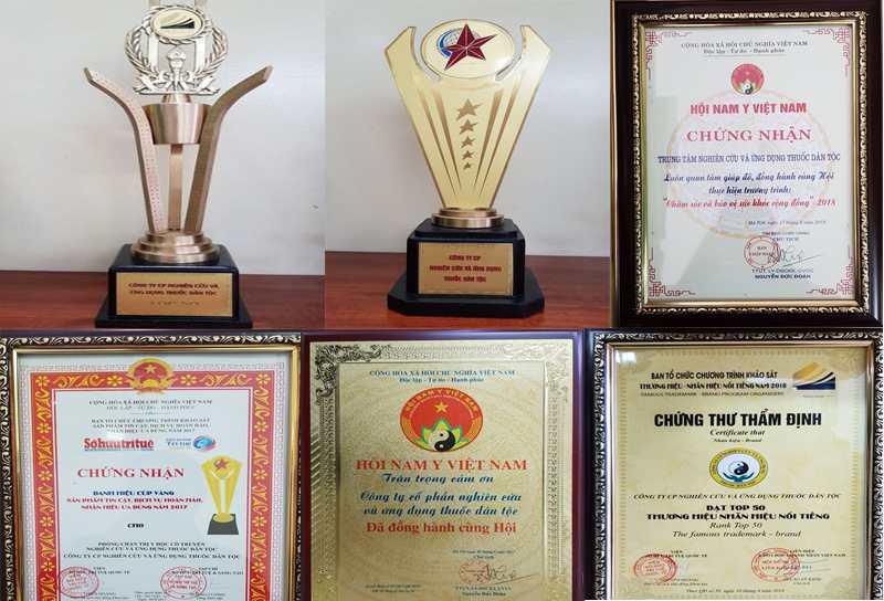 Những giải thưởng danh giá mà Trung tâm Thuốc dân tộc được trao tặng