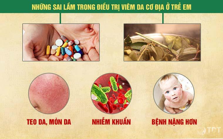 Điều trị viêm da cơ địa ở trẻ em