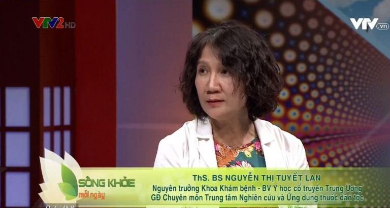 Bác sĩ Tuyết Lan tư vấn điều trị viêm da cơ địa trên VTV2 Sống khỏe mỗi ngày