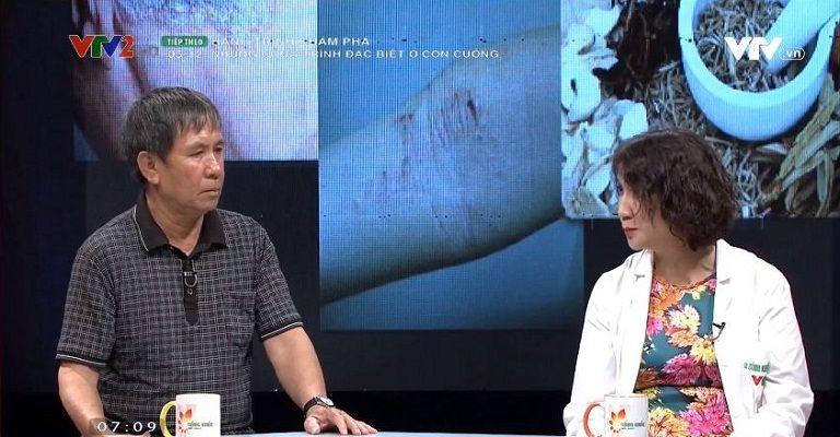 VTV2 đưa tin bệnh nhân vảy nến thoát bệnh tại Trung tâm Thuốc dân tộc